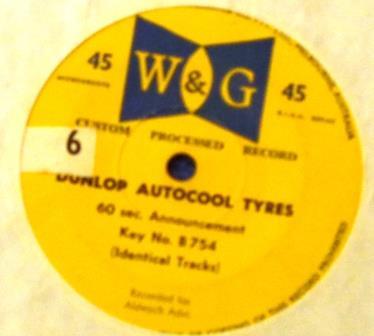0172 Dunlop Autocool 1962 Label